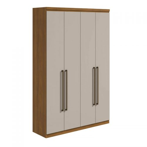 Guarda-Roupa Alonzo 4 Portas 100% MDF Rovere/Off