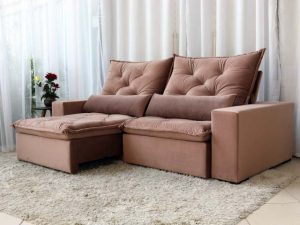 Sofa Retratil Orlando 510 Rose 4