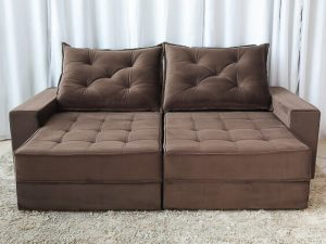 Sofa Retratil Reclinavel Berlim 2.30m Molas Ensacadas Marrom 815 Evidence 2 1