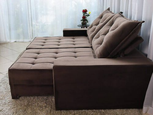 Sofa Retratil Reclinavel Berlim 2.30m Molas Ensacadas Marrom 815 Evidence 3 1