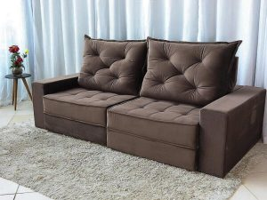 Sofa Retratil Reclinavel Berlim 2.30m Molas Ensacadas Marrom 815 Evidence 5 1 e1598627900349