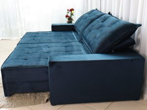 Sofa Retratil Reclinavel Berlim 2.90m Molas Ensacadas Azul 800 3 e1598639682844