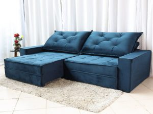 Sofa Retratil Reclinavel Berlim 2.90m Molas Ensacadas Azul 800 4 e1598639653124