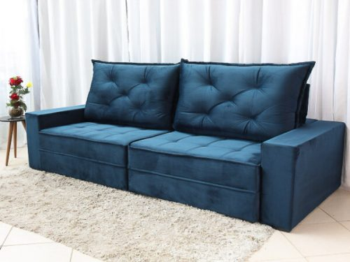 Sofa Retratil Reclinavel Berlim 2.90m Molas Ensacadas Azul 800 5 e1598639632783