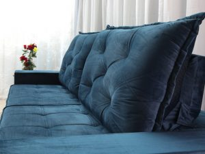Sofa Retratil Reclinavel Berlim 2.90m Molas Ensacadas Azul 800 6