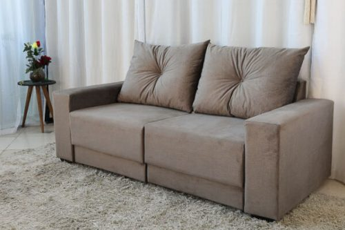 Sofa Retratil e Reclinavel 3 Lugares Arezzo Cinza 3 e1598435575234