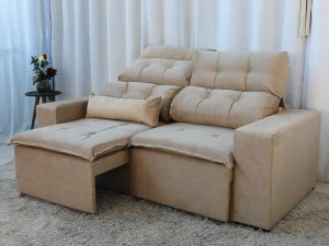 Sofa Retratil e Reclinavel 3 Lugares Beatriz Bege – Estofarmart 2 e1598627047756