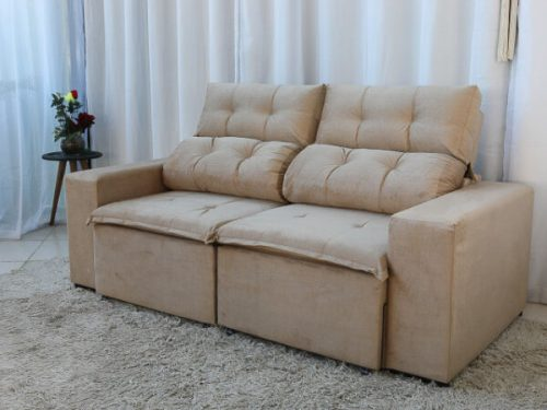 Sofa Retratil e Reclinavel 3 Lugares Beatriz Bege – Estofarmart 4 e1598626927372