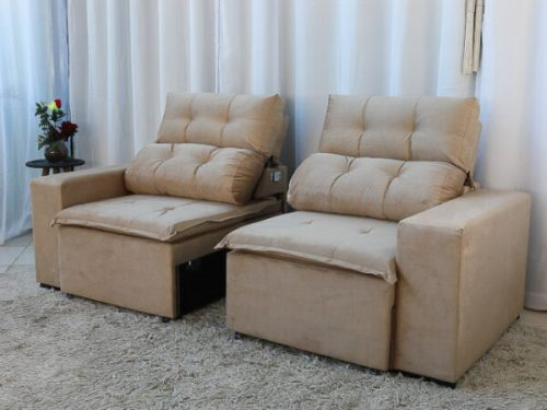 Sofa Retratil e Reclinavel 3 Lugares Beatriz Bege – Estofarmart 6 e1598626854802