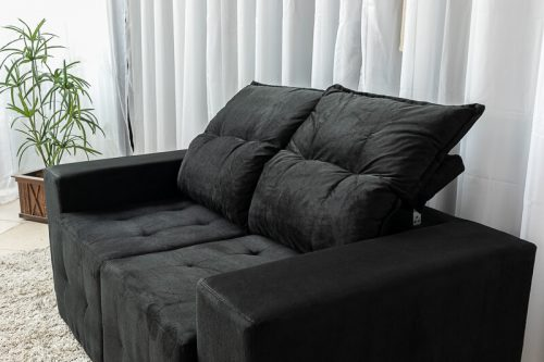 Sofa-Retratil-e-Reclinavel-Paris-1.70m-Molas-Bonnel-Preto-B20