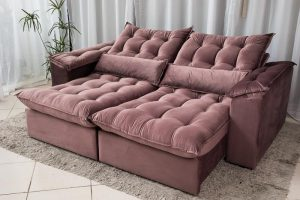 Sofa Retratil Reclinavel 2.30m Ipanema Veludo Vinho 534 1 1