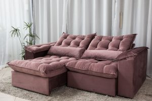 Sofa Retratil Reclinavel 2.30m Ipanema Veludo Vinho 534 12