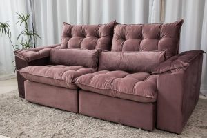Sofa Retratil Reclinavel 2.30m Ipanema Veludo Vinho 534 13