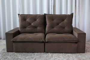 Sofa Retratil Reclinavel 2.30m Modelo 5009 Marrom 815 9