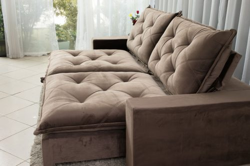 Sofa Retratil Reclinavel 2.90m Modelo 5012 Marrom 7