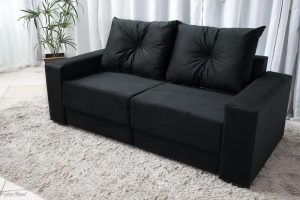 Sofa Retratil 3 Lugares Luca Preto 14