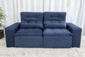 Sofa Retratil Reclinavel Duda 2.00m Sued Azul 26 1
