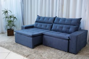 Sofa Retratil Reclinavel Carioca 2.30m Molas Bonnel Sued Azul 10 2