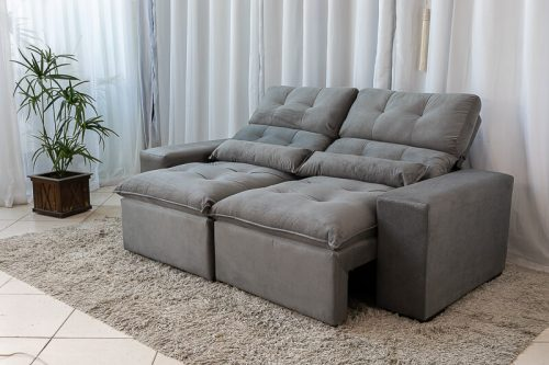 Sofa Retratil Reclinavel Duda 2.00m Cinza