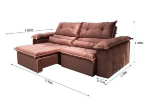 sofa retratil reclinavel dubai 3