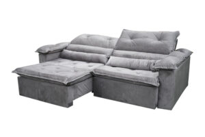 sofa retratil reclinavel dubai cinza 2