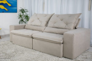 Sofa Retratil Reclinavel Leblon 2.30m Sued Bege 33