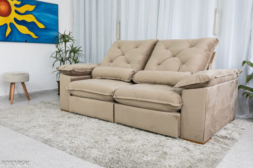 Sofa-Retratil-Reclinavel-Suica-2.10m-Veludo-Bege-5002-Molas-Ensacadas